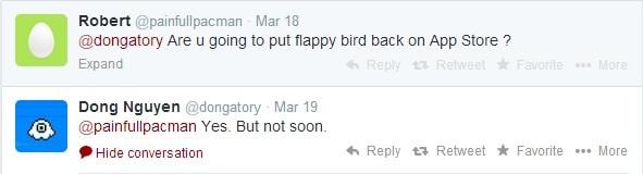 Flappy bird vender tilbage