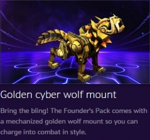 heroes of the storm founder's pack free mount
